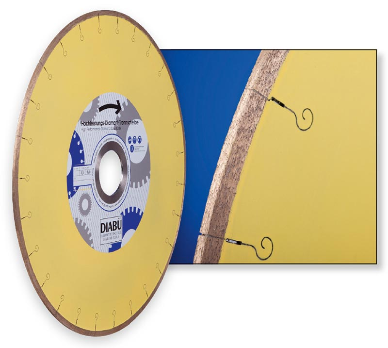 DIABÜ® Hochleistungs-Trennscheiben segmentiert Vollkranz